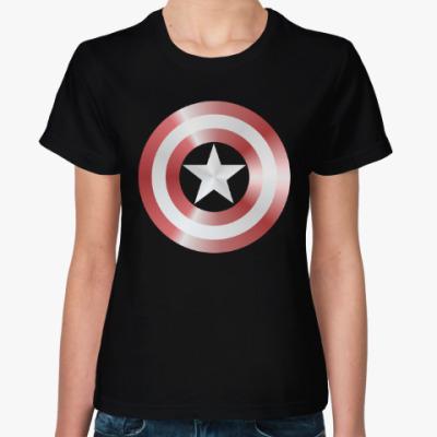 Женская футболка Captain America