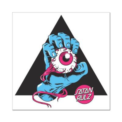 Наклейка (стикер) Satan Rulz
