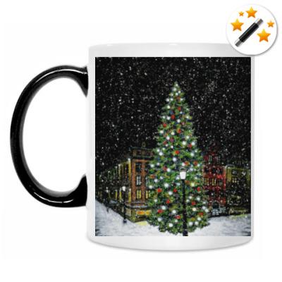 Кружка-хамелеон Рождественская елка