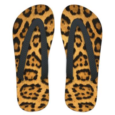Шлепанцы (сланцы) Леопард