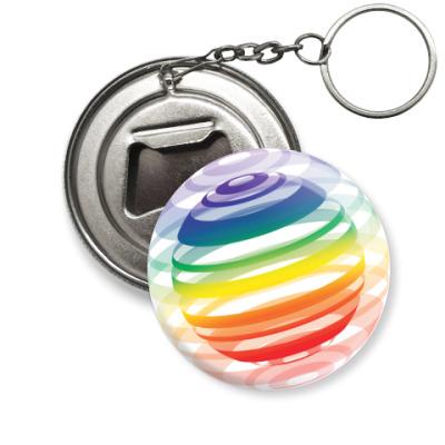Брелок-открывашка   Разноцветный шар