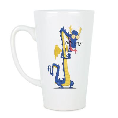 Чашка Латте Восточный дракон