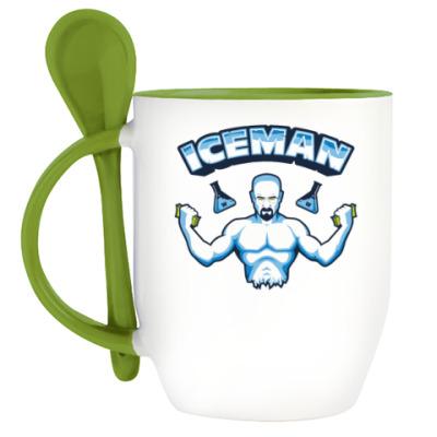 Кружка с ложкой Iceman