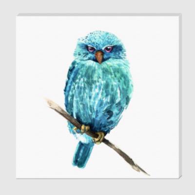 Холст Акварельная сова