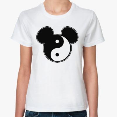 Классическая футболка Инь янь (Микки)