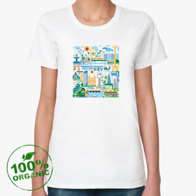 Женская футболка из органик-хлопка  Киев