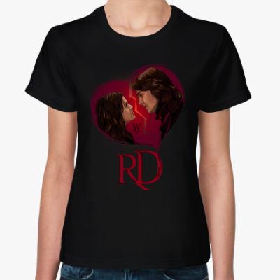 Женская футболка Rose Hathaway & Dimitri Belikov. Vampire Academy