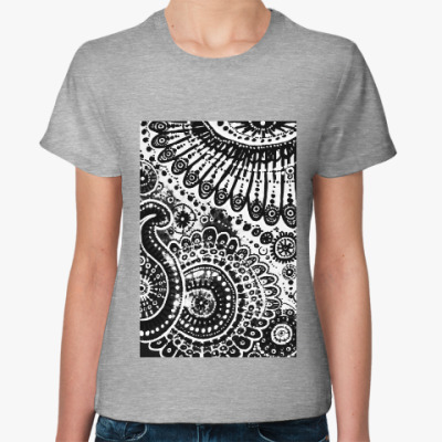 Женская футболка Земля и небо
