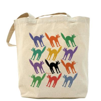 Сумка Разноцветные йошкины коты