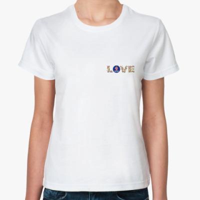Классическая футболка  LOVE SAAB
