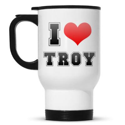 Кружка-термос I love Troy