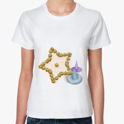 Классическая футболка Хэллоуинская звёздочка