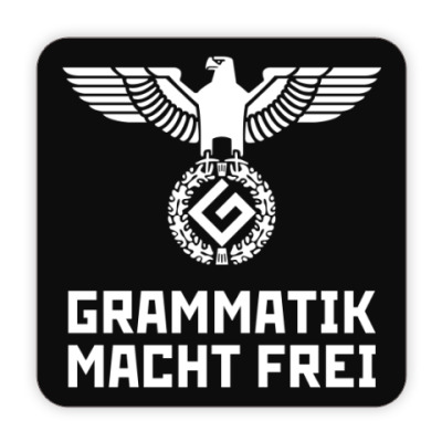 Костер (подставка под кружку) Grammatik macht frei (black)
