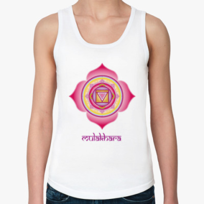 Женская майка Чакра Муладхара - для йоги