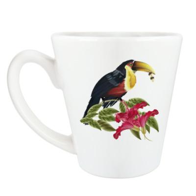 Чашка Латте Тропическая птица