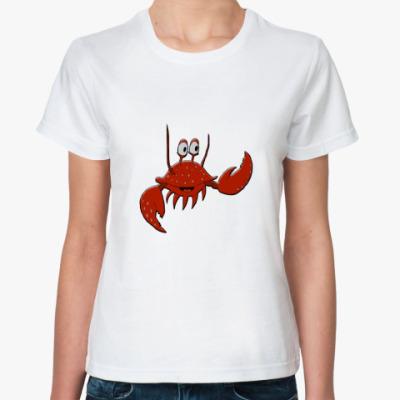 Классическая футболка  Краб