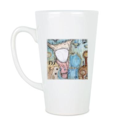 Чашка Латте Синий кот