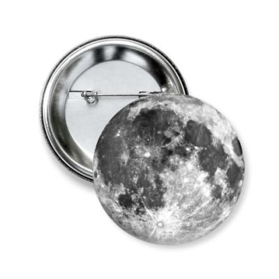 Значок 50мм  'Moon'