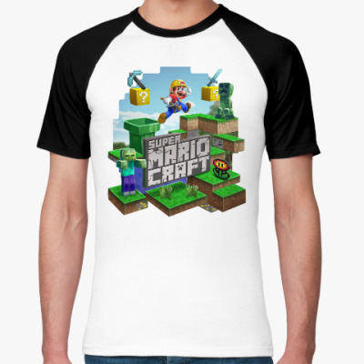 Футболка реглан Super Mario Craft