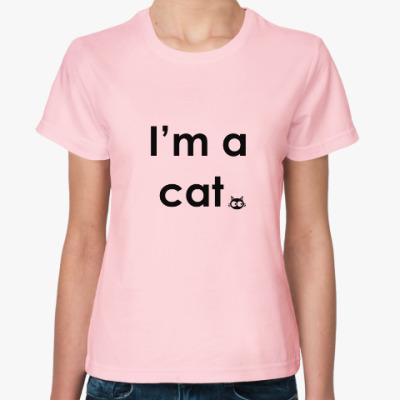 Женская футболка I'm a cat