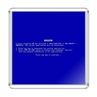 Магнит Синий экран