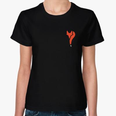 Женская футболка Знак лисы