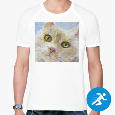 Спортивная футболка Нежный котик