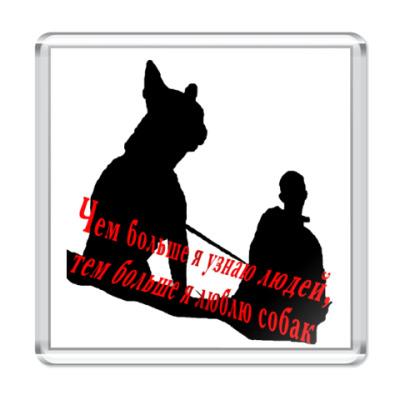 Магнит Любовь к собакам
