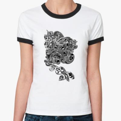 Женская футболка Ringer-T Абстракция Магия