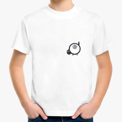 Детская футболка Кот и рыба
