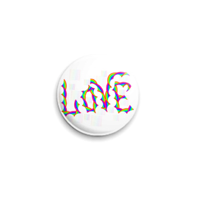 Значок 25мм Love rainbow