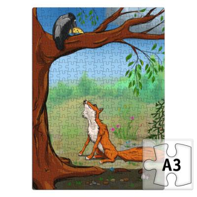 Пазл Ворона и лисица