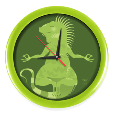 Настенные часы Animal Zen: I is for Iguana