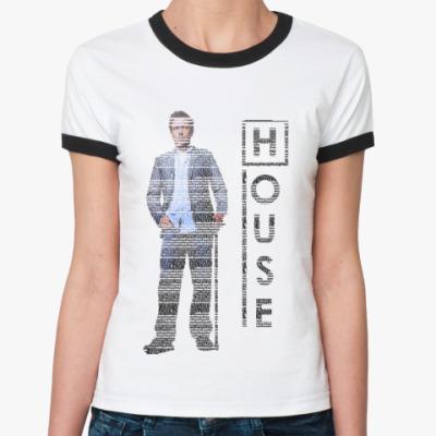 Женская футболка Ringer-T Хаус из букв