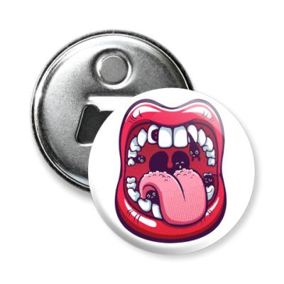 Магнит-открывашка Большой рот