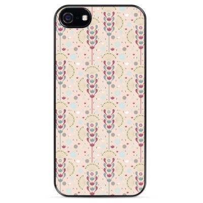 Чехол для iPhone Цветочный орнамент
