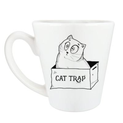 Чашка Латте Ловушка для кота