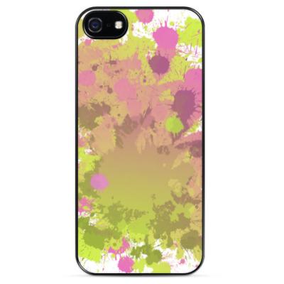 Чехол для iPhone Разноцветная клякса