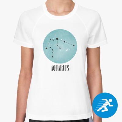 Женская спортивная футболка Знак зодиака Водолей