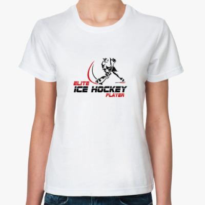 Классическая футболка Elite Ice hockey player