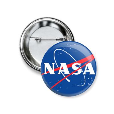 Значок 37мм NASA