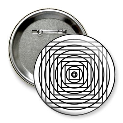 Значок 75мм 'Geometria'