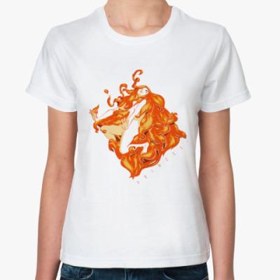 Классическая футболка Огненная ведьма