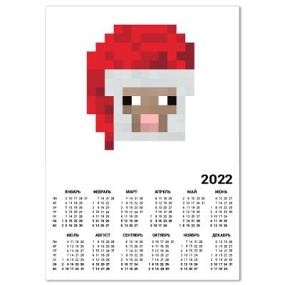 Календарь Знаменитая овечка из Minecraft