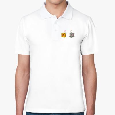 Рубашка поло Portal+Mario=