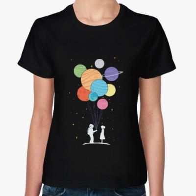Женская футболка Вселенная в шариках
