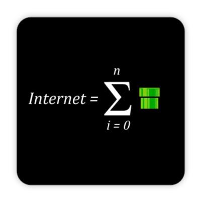 Костер (подставка под кружку) Интернет