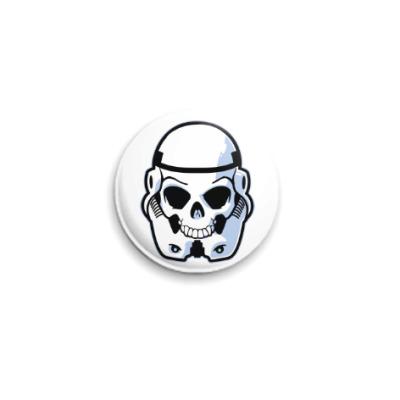 Значок 25мм Trooper Skull