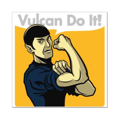Наклейка (стикер) Vulcan do it!
