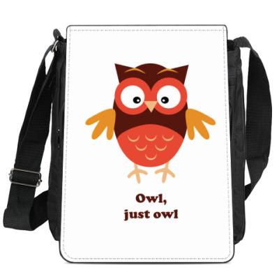 Сумка-планшет Сова, просто сова